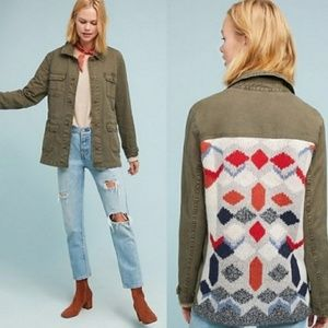 Anthropologie Knit Back Anorak Southwest